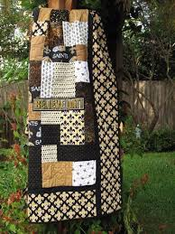 129 best College/NFL Quilts images on Pinterest | Beautiful, Black ... & Saints quilt using Short Stacks pattern from Black Cat Creations Adamdwight.com