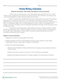 informational writing conclusions lesson plan com practice writing a conclusion