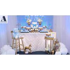 Blue And Gold Baby Shower Decorations Baby Blue And Gold Baby Shower Party Ideas Photo 1 Of 13 Catch