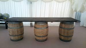 rustic barrel bar