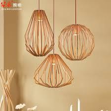 modern wood chandelier lovely pendant lightings solid wooden chandeliers retro diamond shape