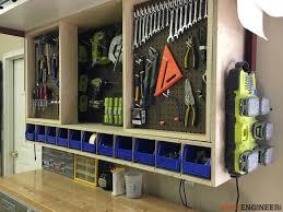 diy garage overhead cabinets.  Cabinets DIYPegboardToolStorageWallUnitRogueEngineer Inside Diy Garage Overhead Cabinets