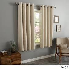 aurora home thermal insulated blackout 54 inch grommet top curtain panel pair 52 w x 54 l each on free today com