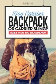dog backpack or dog sling