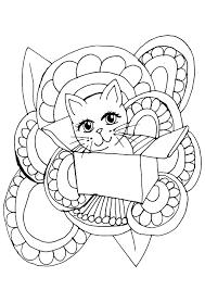 Cute Kat Kleurplaat Gratis Afbeelding Op Pixabay