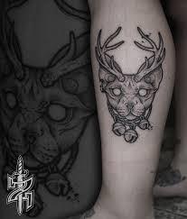 Tattoo Zincik Czech Tattoo Artist Black Work Tattoo Design Cat