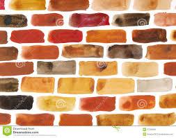 brick wall watercolour painting