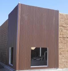 weathered rustic corrugated metal siding