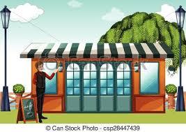 fancy restaurant building clipart. Unique Fancy Man Standing In Front Of A Restaurant Vectors To Fancy Restaurant Building Clipart E