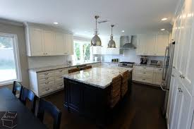 contemporary u shaped kitchen remodel with white custom cabinets in irvine