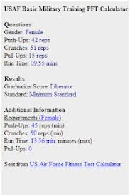 31 Unexpected Air Force Pt Test Score Chart