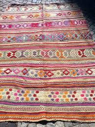 pink kilim rug pink rug decorative embroidered pink blue orange rug handwoven wool rug x inch