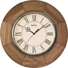 bulova dakota deco wall clock c4223