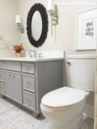 Distressed Bathroom Cabinet Remodelaholic Chalk Paintar Bathroom Vanity Makeover