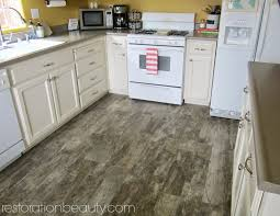 Rustic Kitchen Flooring Restoration Beauty Faux Wood Tile Flooring In The Kitchen