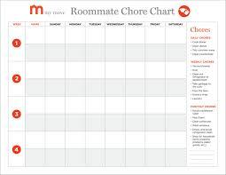 Blank Monthly Chore Chart Chore Chart Roommates Margarethaydon Com