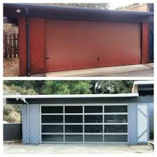 Plain Mid Century Modern Garage Doors With Windows Before And After Door On This Midcentury To Design Decorating