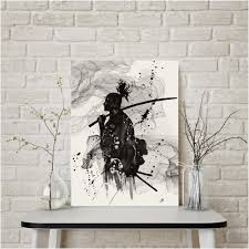 popular cool art paintings cool art paintings photo black and white japan portrait wall art