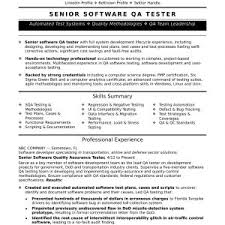 Resume Samples For Experienced Testing Professionals Save