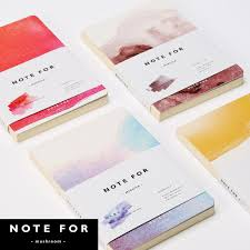 whole anese stationery creative mizuiro watercolor paiting style cover blank pages notebook diy drawing sketchbook graffiti diary blank page