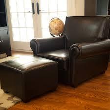armchair and ottoman ikea leather chair