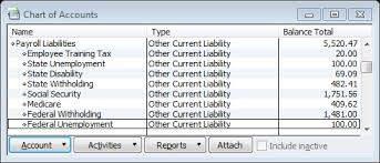 Quickbooks Tip Creating A Functional Payroll Liabilities