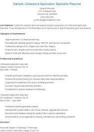 10 11 Resume For Ultrasound Technologist Nhprimarysource Com