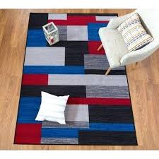 red and gray area rug blue contemporary geometric non slip black rugs navy red and gray area rug