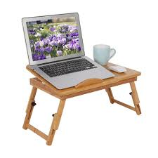 Us 10 22 33 Off 1pc Portable Bamboo Computer Desk Rack Shelf Dormitory Bed Lap Desk Book Reading Tray Bed Table For Computer Notebook Book Table In
