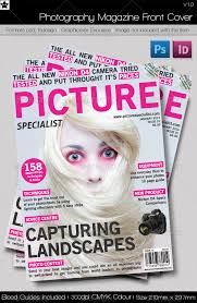 Magazine Front Cover Graphics Designs Templates