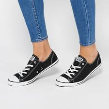 converse dainty ox. converse chuck taylor all star dainty ox shoes - black | free delivery* 0