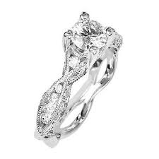 Engagement Ring 18k White Gold Diamond Tacori Size 6 0 Estate Jewelry Ebay