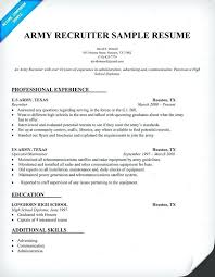 Veteran Resume Examples Cool Army Resume Example Sample Recruiter Resume Employment Education