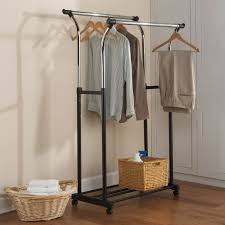 Rolling Coat Rack With Shelf Best Rolling Clothes Rack Home Design Ideas 92