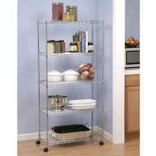 Wire Racks For Kitchen Storage Seville Classics 5 Shelf 30 In X 14 In Home Wire Shelving System
