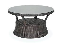 wicker patio coffee table round aluminum woven resin wicker glass top conversation table outdoor wicker coffee