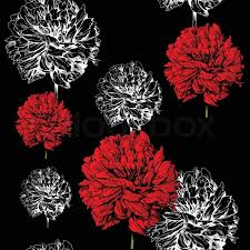 abstract fl background fashion black seamless pattern rich vintage art wallpaper retro vector fabric with graphic beautiful red creative flowers