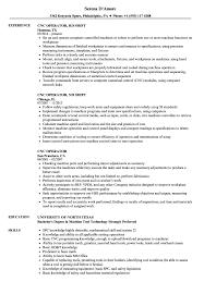 Cnc Operator Resume Samples Velvet Jobs