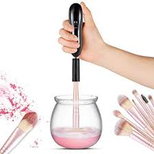 makeup brush cleaner and dryer larmhoi electric makeup brush cleaning tool with 8 size rubber