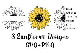 Please purchase a commercial license if you wish to use this design on tangible items you intend to sell. 496 Sunflower Svg Designs Graphics