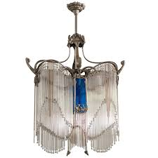 art nouveau chandelier in the style of hector guimard for