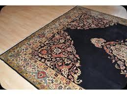 traditional handmade royal blue wool area antique persian tabriz rug