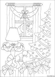 Christmas Stained Glass Window Colouring Sheets Stained Glass