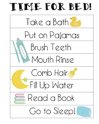 Bedtime Routine Chart Printable Free Printable Bedtime Routines Chart Not Quite Susie