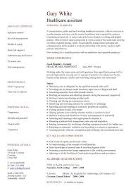 healthcare assistant cv template template of personal care assistant resume  by gary white - Personal Care