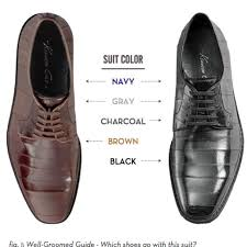 Nifty Chart For Mens Suits And Shoe Color Look The Part