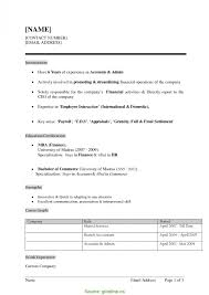 Trending Hr Resume Format Doc Download Resume Templates For Mba
