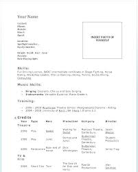 Dance Resume Template Beginner Dance Resume Template Example Enchanting Template Resume