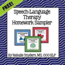 Speech Sample Impressive Speech Language Therapy Homework Sampler FREEBIE By Natalie Snyders