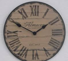 large brown wall clock